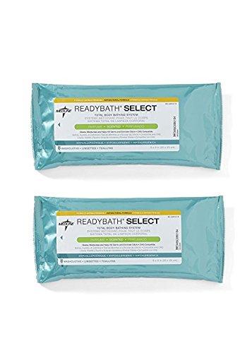 Antibacterial Cleansing Wipes - Medline ReadyBath Select Scented Antibacterial Body Cleansing Cloths, Medium Weight 2 Count
