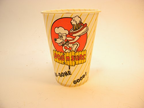 Vintage Dog N Suds Wax Paper Cup 10 Ounce