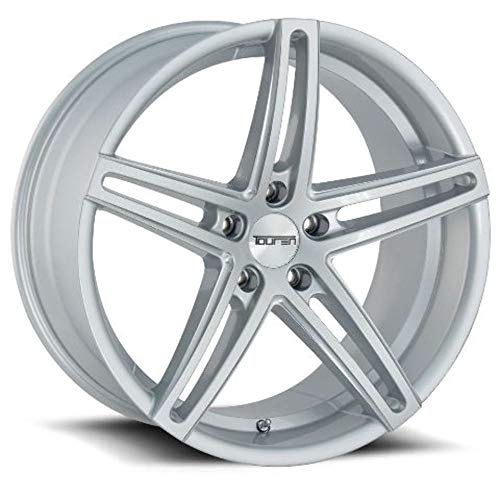 TOUREN TR73 (3273) GLOSS SILVER/MILLED SPOKES: 18x8 Wheel Size; 5-114.3 Lug Pattern, 72.62mm Bore, 35mm Offset.