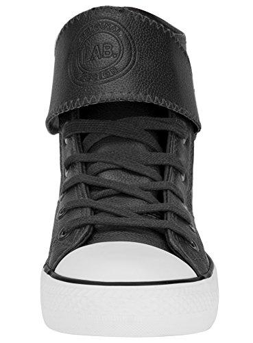 Sneakers in Ultra Alte Uomo Punta Nero con oodji Sintetica Gomma Pelle in 2910b pwqzBxEd