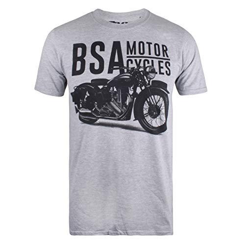Uomo T shirt Marl Tonal Bsa Motocycles Grigio grey Gym wICfq7axn