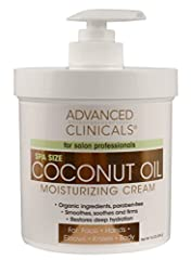 Spa Size 16oz anti-aging coconut oil cream will last you months! Highly nourishing, luxurious formula restores moisture to dry, dull skin. Delicious smelling cream is concentrated with pure Coconut Oil and Organic Lavender Extract for immediate hydra...