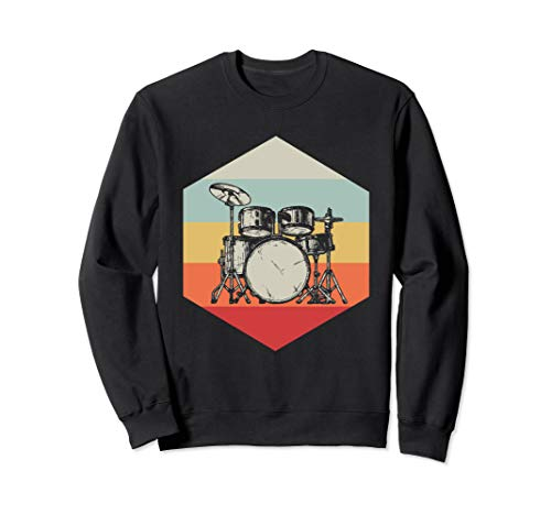 Drum Sweatshirt - Retro Drums Sweatshirt