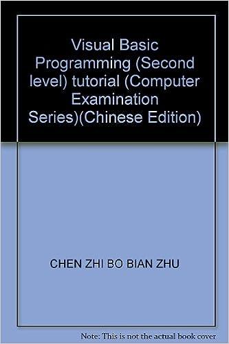 Read online Visual Basic Programming (Second level) tutorial