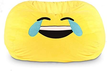 Brilliant Amazon Com Gomoji 9630401 Emoji Cool Bean Bag Chair 28 X Caraccident5 Cool Chair Designs And Ideas Caraccident5Info