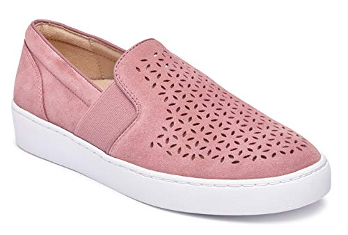 Vionic Women's Splendid Kani Slip-on Walking Shoes - Ladies Athleisure Sneakers with Concealed Orthotic Arch Support French Rose 8 Medium US