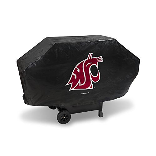 NCAA Washington State Cougars Vinyl Padded Deluxe Grill Cover