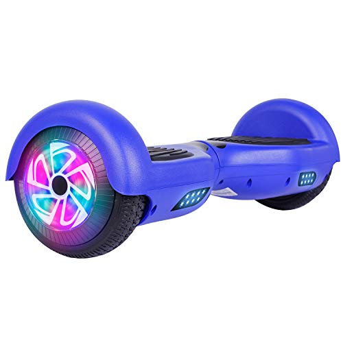 Felimoda Self Balancing Hoverboards with LED Light and Carrying Case,6.5 Inch Two Wheel Smart Electric Scooter for Kids and Adults-UL2272 Certified (Blue)