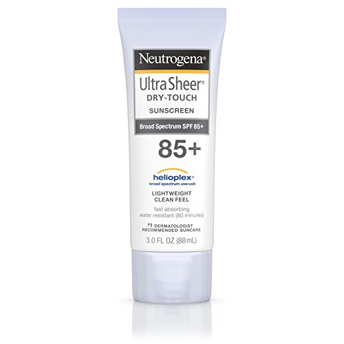 (Neutrogena Ultra Sheer Dry-Touch Water Resistant and Non-Greasy Sunscreen Lotion with Broad Spectrum SPF 85, 3 fl. oz)