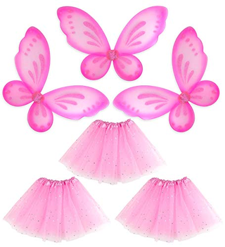 Girls Princess Butterfly Fairy Angel Wings & Ballet