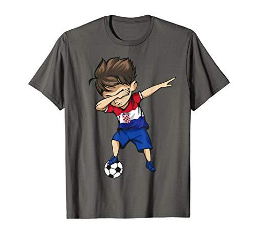 Dabbing Soccer Boy Croatia Jersey Shirt - Croatian Football