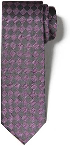 Origin Ties 3'' Skinny Silk Tie Retro Checkered Men's Classic Business Slim Necktie
