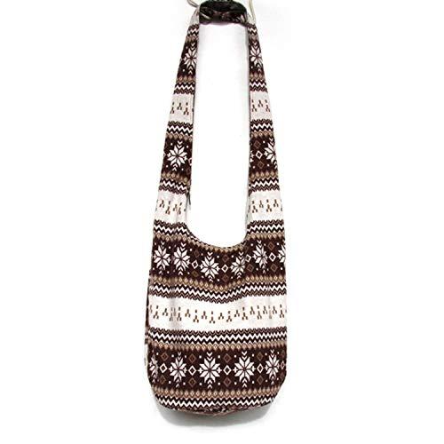 Fashion Story Women's Girls Thai Cotton Hippie Sling Crossbody Bag Messenger Purse Paisley Print