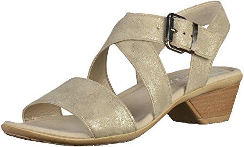 Gabor 64.540.62 - Sandalias de vestir de ante para mujer Visone