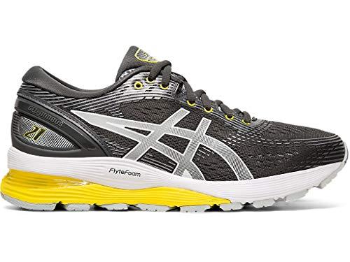 ASICS Women's Gel-Nimbus 21 Running Shoes, 8M, Dark Grey/MID Grey