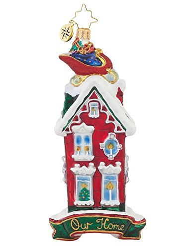 Christopher Radko Glass Rooftop Visitor Our Home Christmas Ornament #1017850 by Christopher Radko