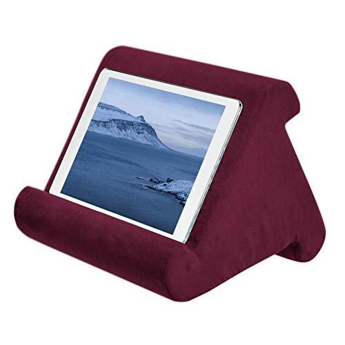 Universal iPad Tablet Stand Pillow Holder,Multi-Angle Soft Pillow Pad Stand Lap Stand for iPads, Tablets, eReaders, Smartphones, Books, Magazines