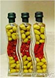 Set of 3 Decorative Vinegar Wave Bottles