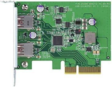 QNAP QXP-10G2U3A Tarjeta de expansi/ón USB 3.2 Gen 2 Velocidad de hasta 10 Gbps para Transferencia r/ápida de Archivos y expansi/ón del Almacenamiento