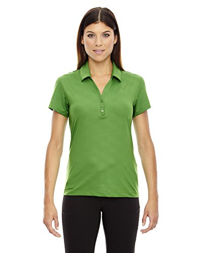 North End Ladies Stretch Embossed Print Polo Shirt, Valley Green 448, Medium ()
