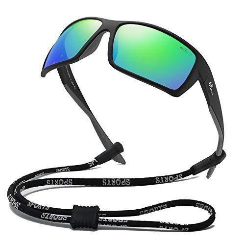 Bevi Sports Sunglasses Polarized Lens/TR 90 Frame with Spring Hinges Glasses For Men Women Cycling Running Baseball 2677C3