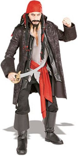 Sea Captain Pirate Costumes (Rubie's Costume Pirates of the Seven Seas Captain Cutthroat - Adult Standard)