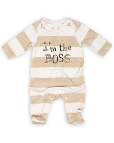 The Essential One Baby Funny Velour Coverall 3-6 months Beige Infant Baby Boys Velour Coverall