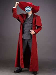 CTMWEB Hellsing Cosplay Costume - Alucard Outfit 1st Version Set Kids Large
