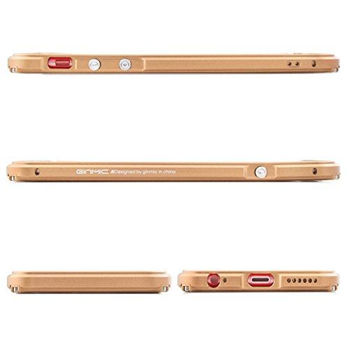 Alienwork Coque pour iPhone 6 Plus/6s Plus or champagne Case Etuis Housse Anti chocs Aluminium or AP6SP10-04