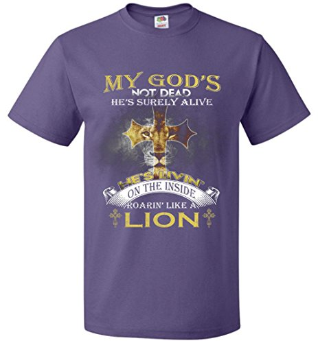 99tee My God's Not Dead He's Surely Alive He's Livin' On The Inside Roarin' Like A Lion (God Like T-shirt)