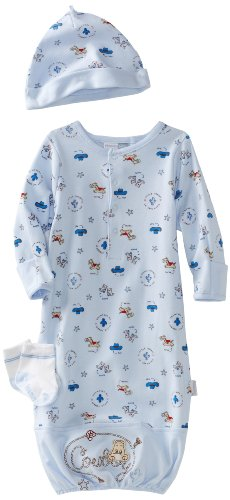 Vitamins Baby-boys Newborn Cowboy 3 Piece Gown Set