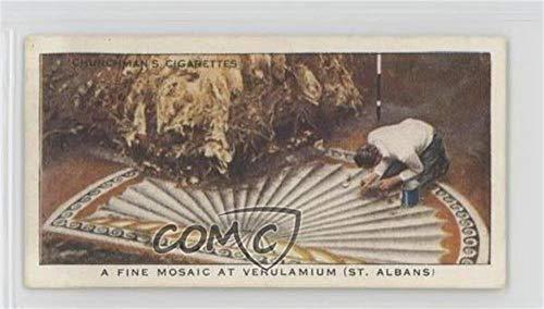 (A Fine Mosaic At Verulamium (ST. Albans) (Trading Card) 1937 Churchman's Treasure Trove - Tobacco [Base] #2)