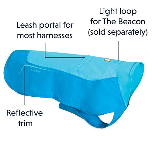 RUFFWEAR - Vert Waterproof Fleece Jacket for Dogs, Blue Atoll, Medium	 by RUFFWEAR (Image #5)