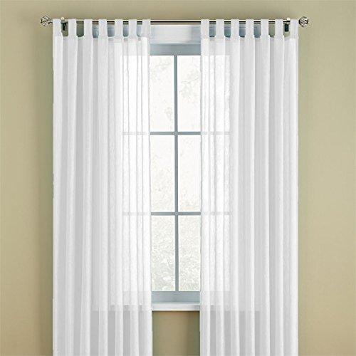 White Tab Top Curtains Amazon
