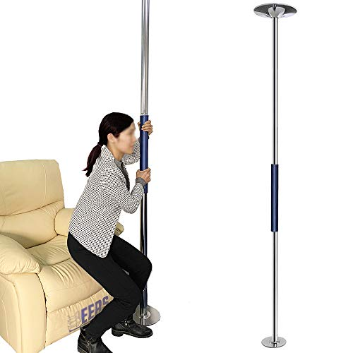 Transfer Pole Floor to Ceiling Security Pole Curve Grab Bar Bed Assist Bathroom Handicap Support Handle Toilet Safety Medical Aids for Elderly Disabled Seniors Assistance Stability Equipment