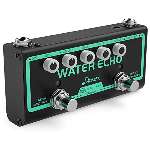 Donner Multi Guitar Effect Pedal Water Echo Pedal Effect Chain 2 Mode Chorus and Delay