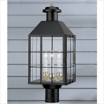 Norwell Lighting 1056-BR-SE American Heritage - Three Light Post, Glass: Seedy Glass, Finish: BR: Bronze