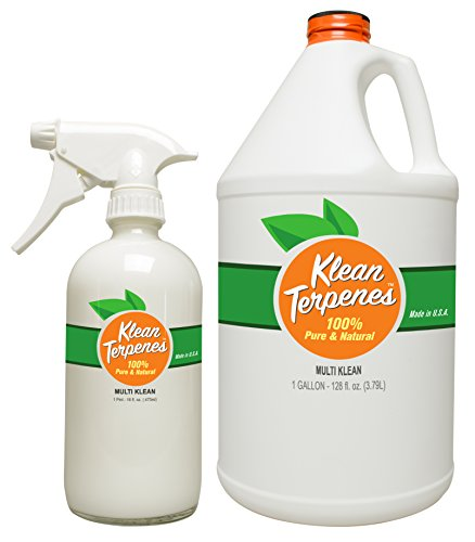 "Natural All-Purpose Cleaner – ""Multi-Klean"" by Klean Terpenes TM – Glass Spray Bottle Included, 100% Certified Child & Pet Safe Multi-Surface Cleaner – Made in the USA"