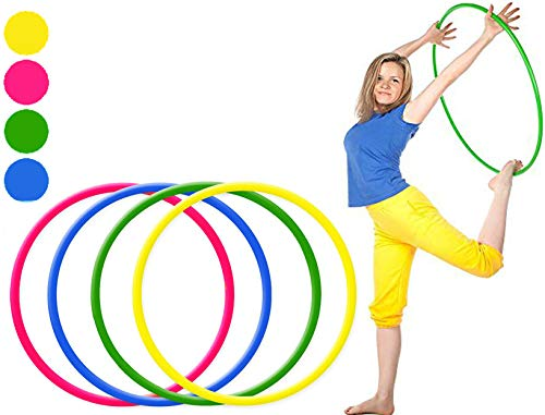BuyingZone Pack of 6 kids Adult Weight Loss Sports hoola Hoop Series Small Medium And large (55cm/21) Hula Hoops