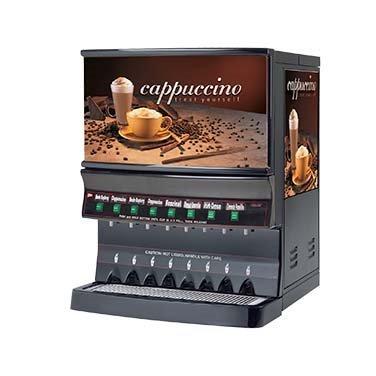 Grindmaster Cecilware Cappuccino Dispenser, Electric, High Volume, (1) 10 Lbs Capacity Hopper & (7) 5 Lbs Capacity Hoppers