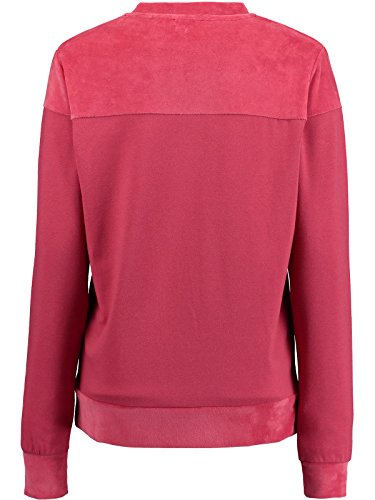 Pullover Donna Oneill Velour Mix Crew Holly Berry