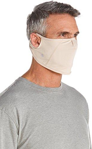 Coolibar UPF 50+ Unisex UV Mask - Sun Protective (Small/Medium- Beige)
