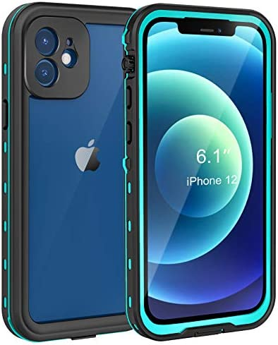 Fansteck iPhone 12 Waterproof Case, IP68 Protective Clear Cover with Built-in Screen Protector, Shockproof Snowproof Dustproof Full-Body Case, High Sensitive Screen Touch (6.1 inch)