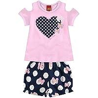 Conjunto Infantil Feminino Blusa + Short Kyly 109123.40073.3