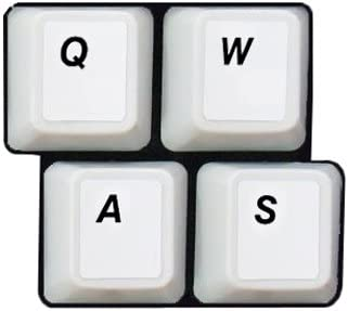 HQRP English Keyboard Stickers With Black Lettering on White Background for White Gray Keyboard Suit for All PC and Laptops