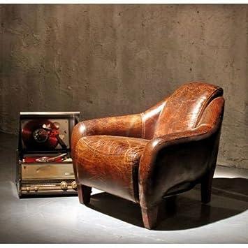 Echt Leder Design Relaxsessel Leder Sessel Lazy Club Neu Amazonde