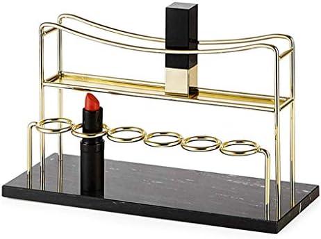 SMEJS Kosmetische Aufbewahrungsbox Finishing Table Schminktisch Marmor Display Lippenstift Rack Best