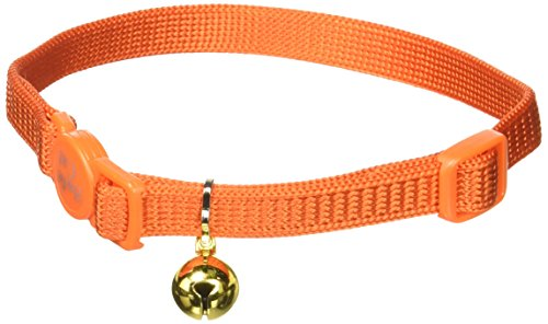 417 Td12zxL - Coastal Pet Products CCP7001SSO Nylon Safe Cat Adjustable Breakaway Collar with Bells, Sunset Orange