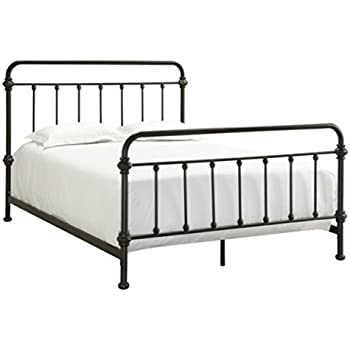 Amazoncom Wrought Iron Bed Frame Dark Bronze Metal Queen Size Free