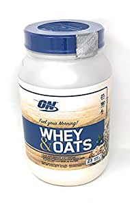 Optimum Nutrition On Whey & Oats Protein Powder (Blueberry Muffin, 23 Servings (2.54 lbs))